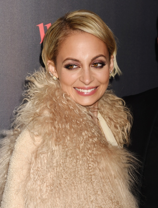 Nicole Richie faux fur