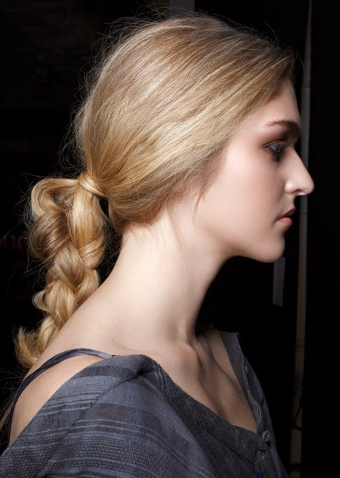 Summer Beauty Ideas For When It's Crazy-Hot | A mussed up ponytail braid