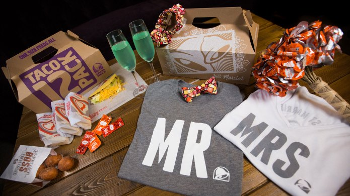 Taco Bell wedding package