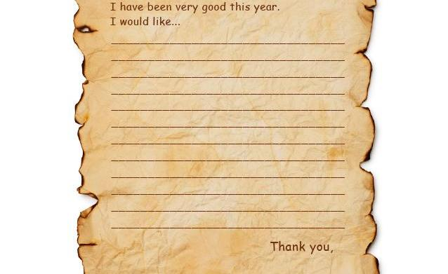 Letter to Santa templates