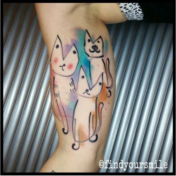 Tattoo of cats