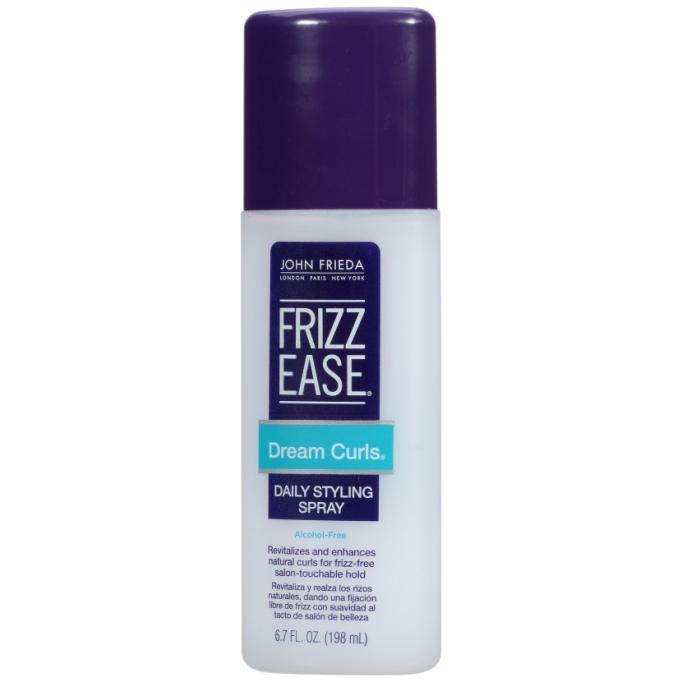 Best Hair Products To Refresh Second Day Curls: John Frieda Frizz Ease Dream Curls Curl-Perfecting Spray | Fall Hair Care 2017