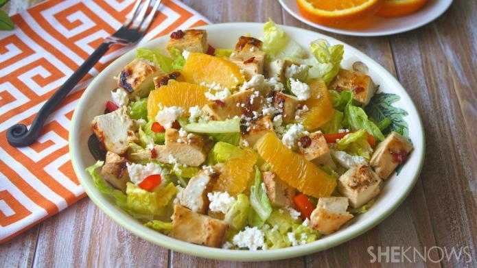 Sunday dinner: Grilled chipotle-orange chicken salad