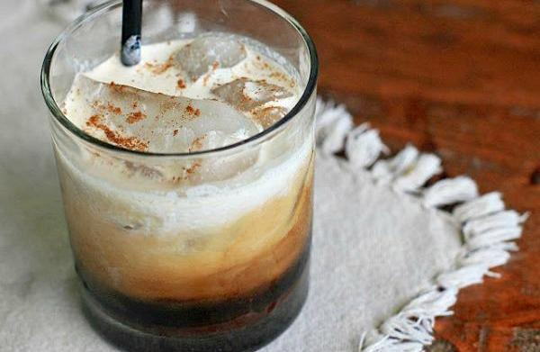 Iced Mexican coffee with café de