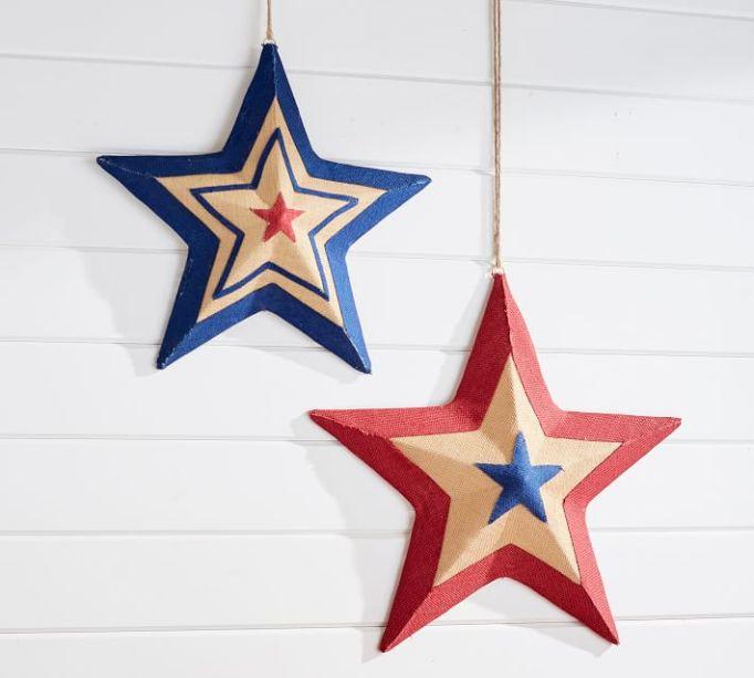 Liberty Burlap Stars