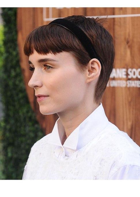 Celebrities Who Nailed Baby Bangs   Rooney Mara