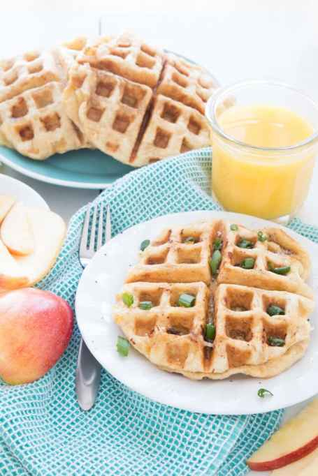11 Sweet and Savory Waffle Recipes: Smoked gouda and apples jazz up these waffles.