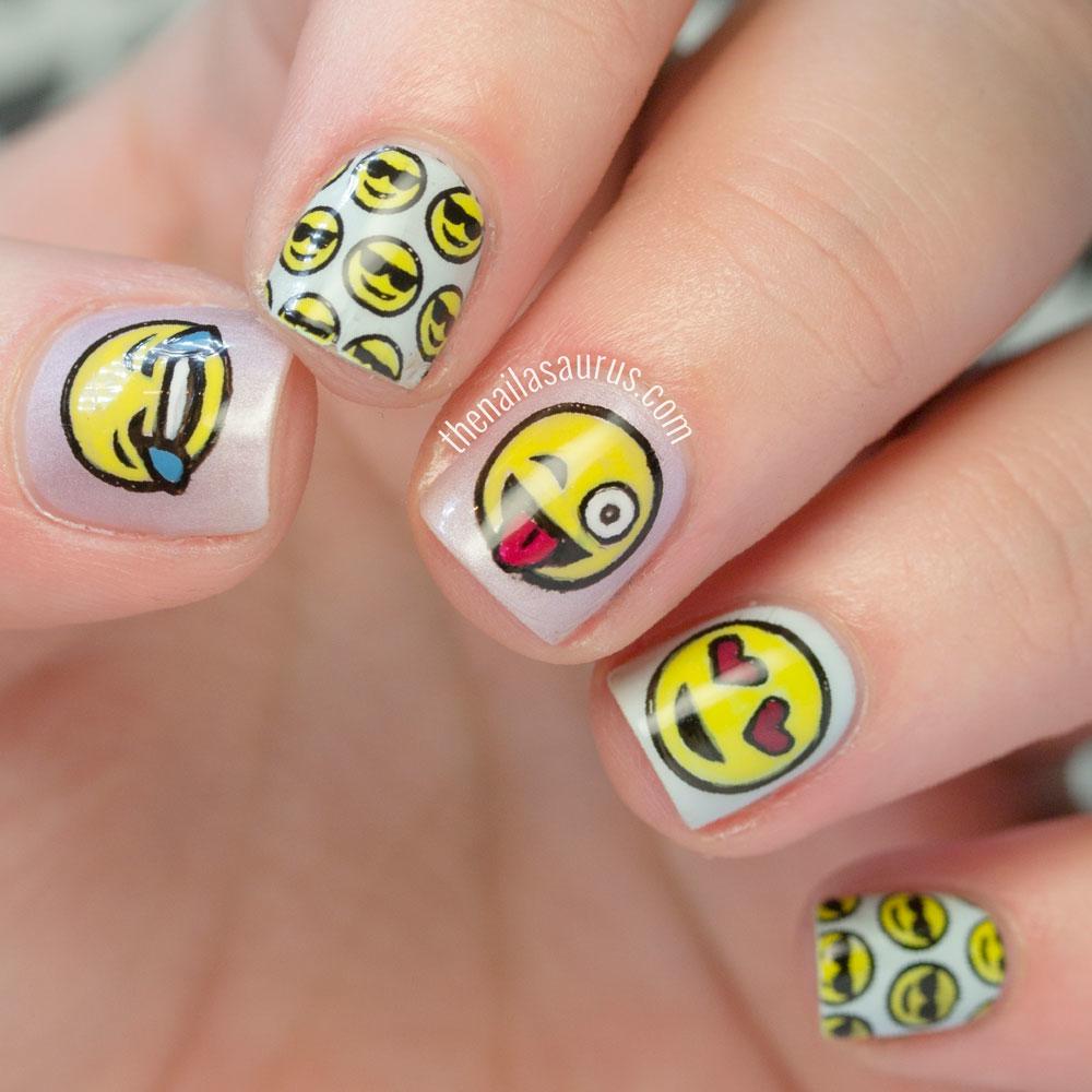 Emoji Nail Art - 17 Nail Art Designs Kids Will Want To Show Off This Upcoming School