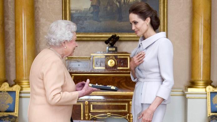 Angelina Jolie gets the royal treatment