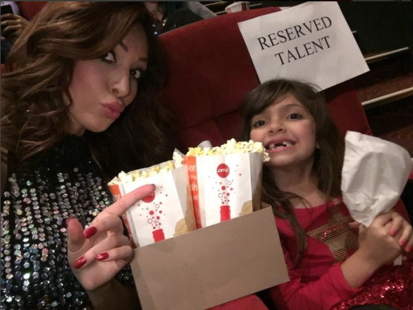 Teen Mom's Farrah Abraham and daughter Sophia at the movies