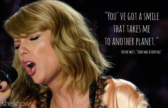 Taylor Swift song lyrics that can double as pick-up lines