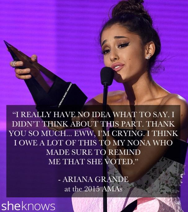 Ariana Grande 2015 American Music Awards
