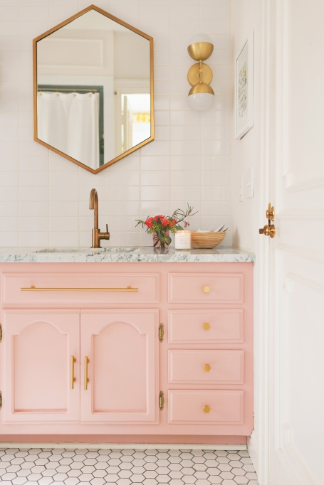 How to Decorate Small Spaces: Upgrading your fixtures can make all the difference in a small room.
