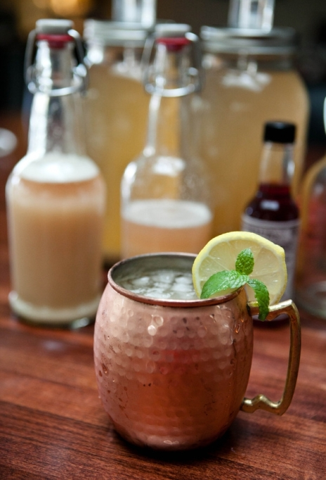 Ginger beer in a moscow mule mug