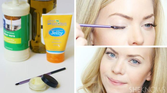 DIY moisturizing eyelash growth serum