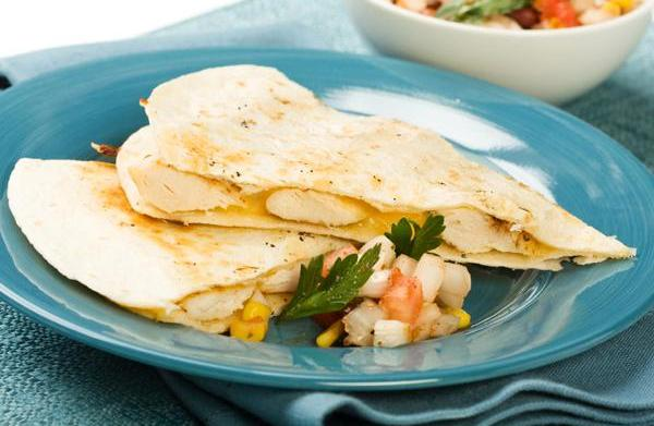 Tonight's dinner: Grilled Chicken Quesadilla's