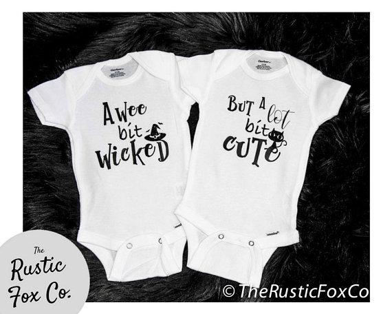 Wicked cute twin onesies