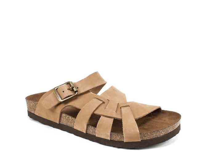 White Mountain hickory slide sandal