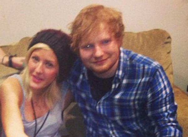 Ellie Goulding and Ed Sheeran
