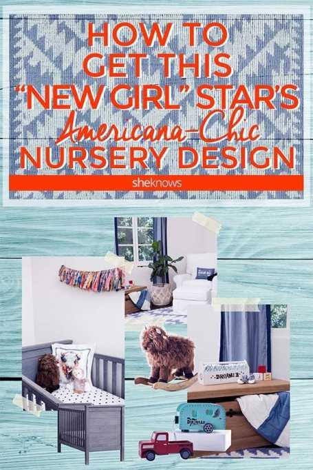 Hannah Simone's Americana-chic nursery from Junk Gypsy & Pottery Barn Kids