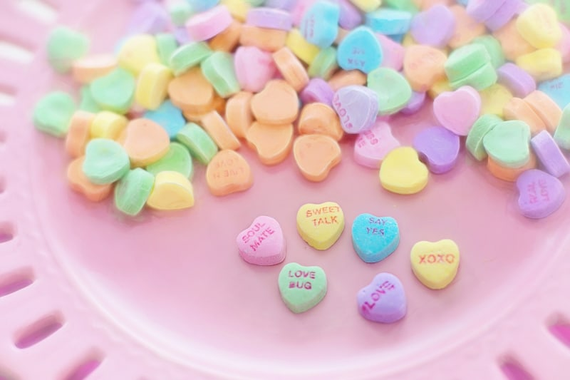 Valentine candy hearts