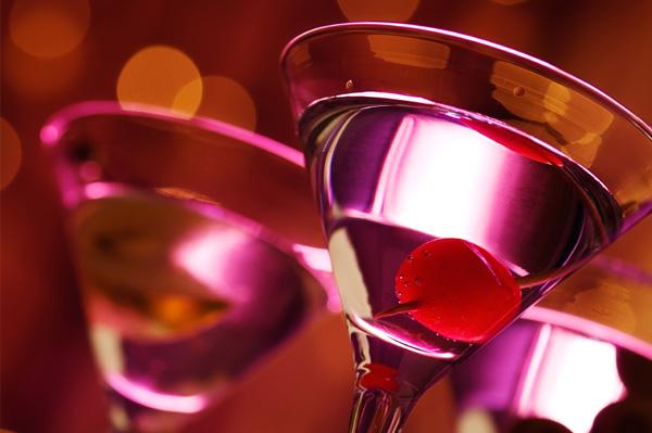 sparkling holiday martini