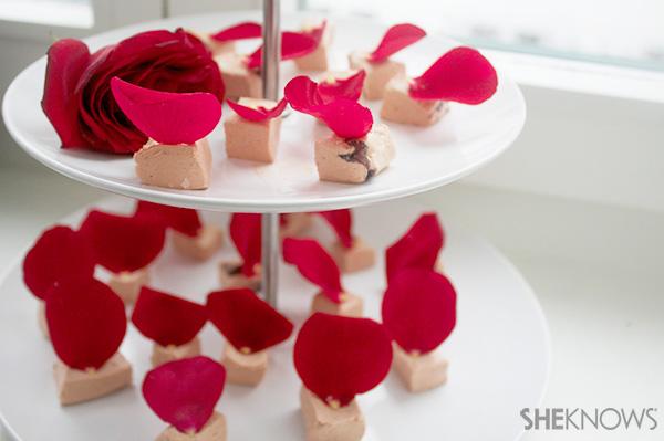 Valentine's Day rosewater nougat