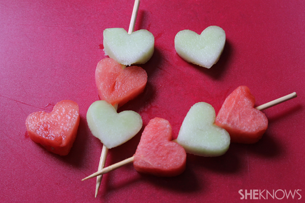Valentine's Day fruit skewers