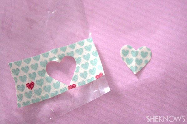 Step four cute a half heart shape