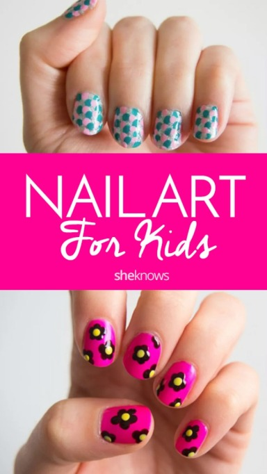 Cool nail art ideas for kids Pinterest image