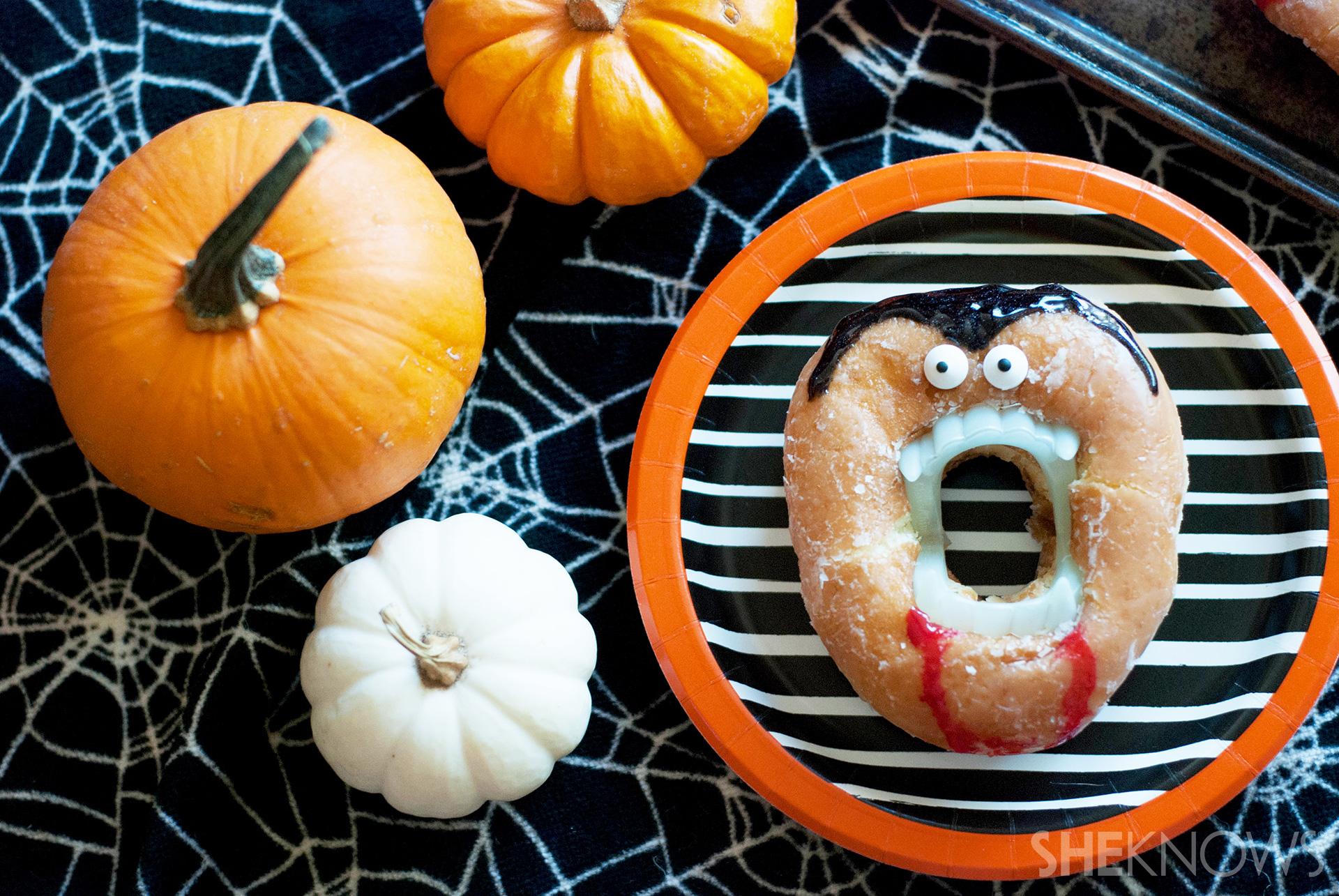 Creepy vampire doughnuts recipe