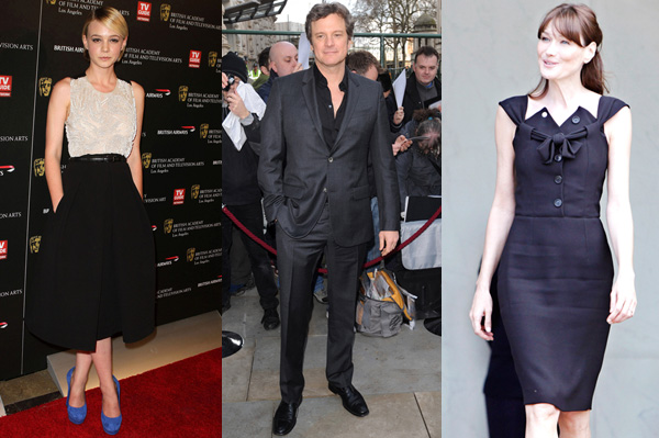 Carla Bruni-Sarkozy, Carey Mulligan, Collin Firth