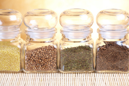 Variety of dried spices