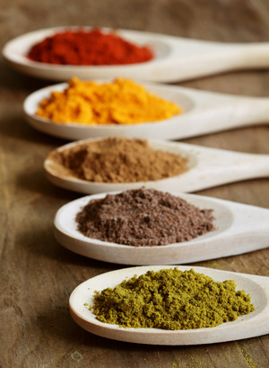 Variety of Indian spices