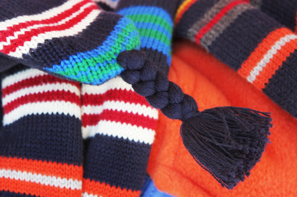 Variety of winter clothing