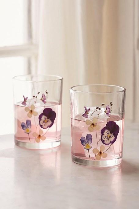 Pressed Flower Glasses