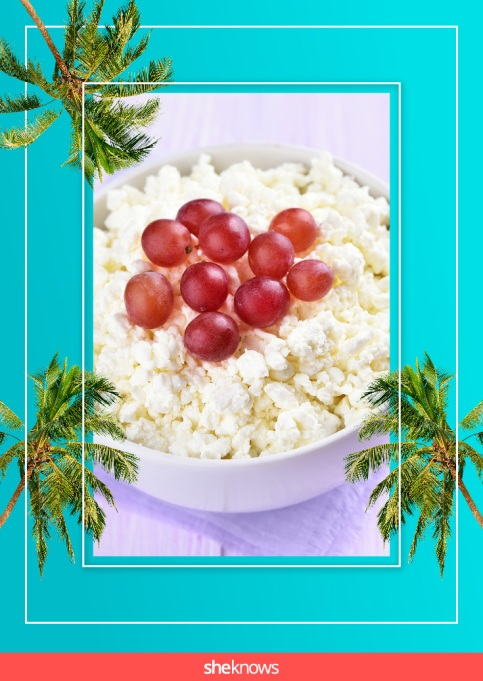 Frozen grapes and cottage cheese