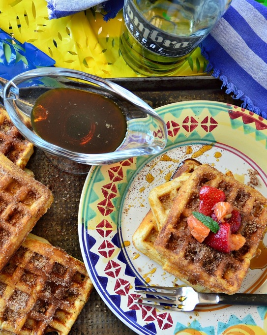 11 Sweet and Savory Waffle Recipes: These chorizo churro waffles are a riot of sweet and spicy flavor.