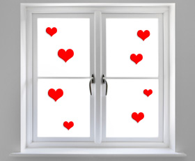 V-Day window clings