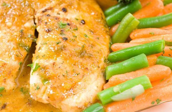 Sunday Dinner: Orange glazed tilapia