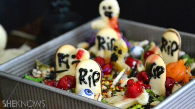34 Halloween foods that'll take your party to the next level: Graveyard cake