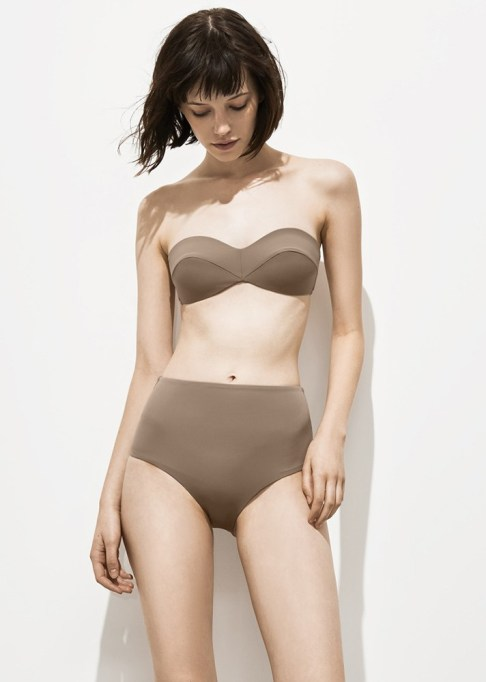 Best Unique Bathing Suits: Her the Label Frances Bathing Suit in Stone Taupe | 2017 Summer Swimsuits