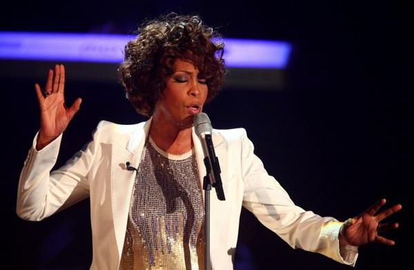 Whitney Houston hits a high note