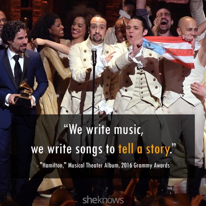 Hamilton 2016 Grammys