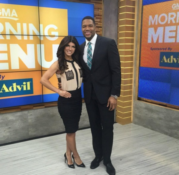 Teresa Giudice on Good Morning America with Michael Strathan