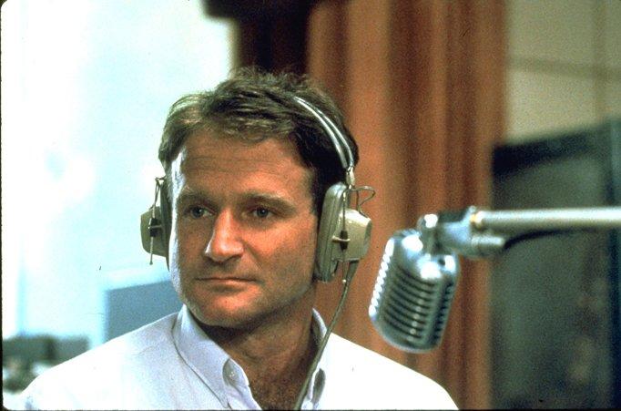 Still of Robin Williams in 'Good Morning, Vietnam'