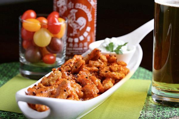 Sriracha vegan Buffalo wings recipe