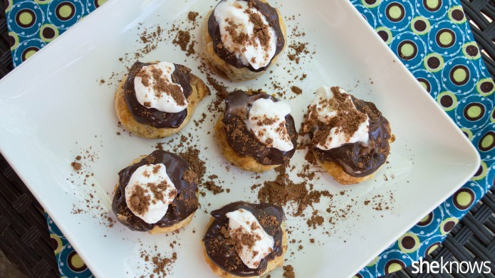 One-bite chocolate cream pies you won't