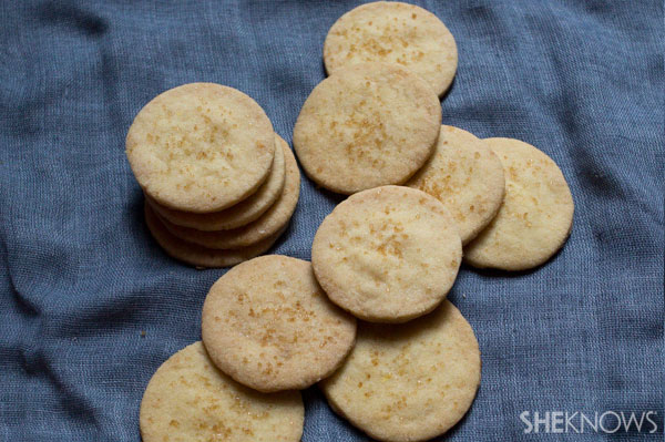 Tea-infused vegan shortbread
