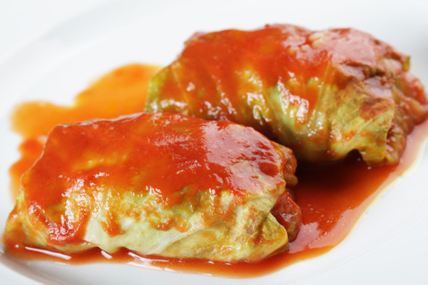 Vegetable cabbage rolls